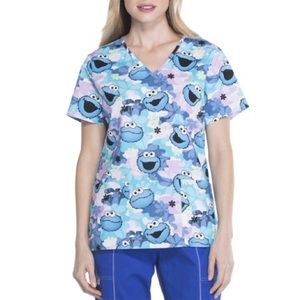Cookie Monster scrub top